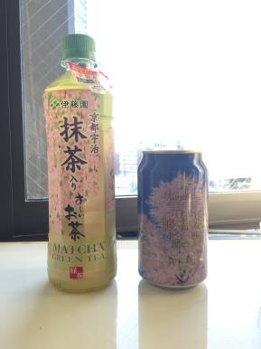 Grüner Tee und Bier